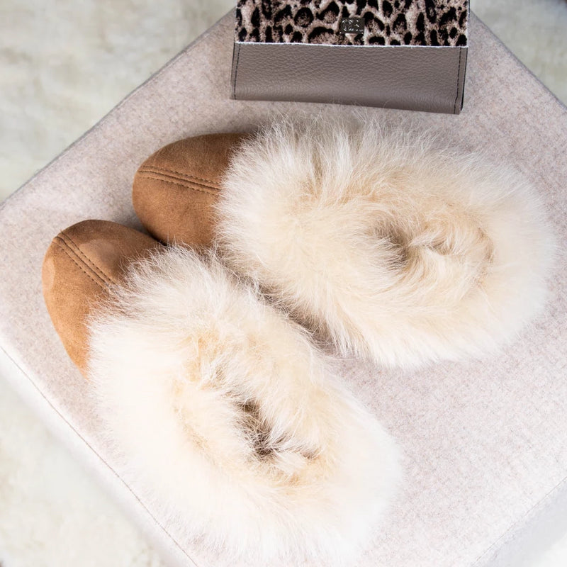 Womens Sheepskin slippers by Shepherd style Annelie in chestnut