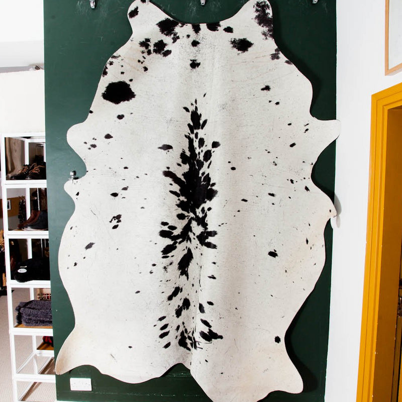 cowhide white and black spotted