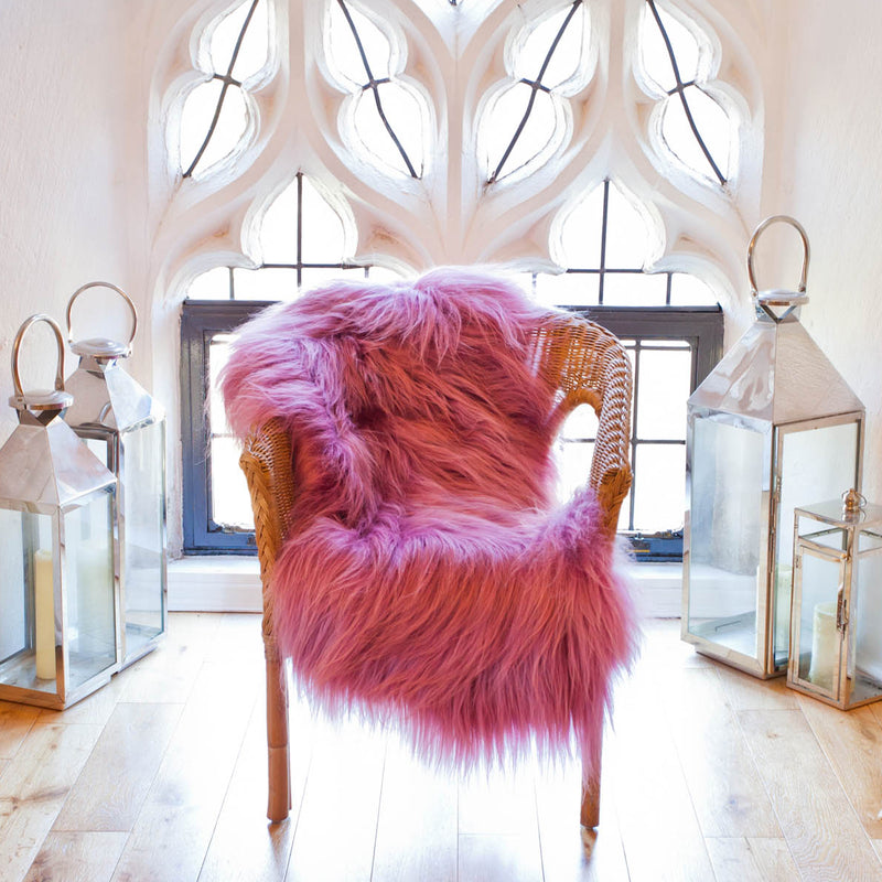 Dusty Rose Pink Icelandic Sheepskin Rug