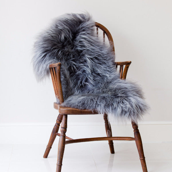 Iceland Sheepskin Rug in Grey