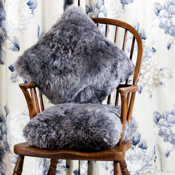Harrogate Grey Icelandic Sheepskin Cushion