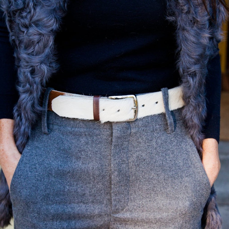 Cowhide and Leather Ladies Belt