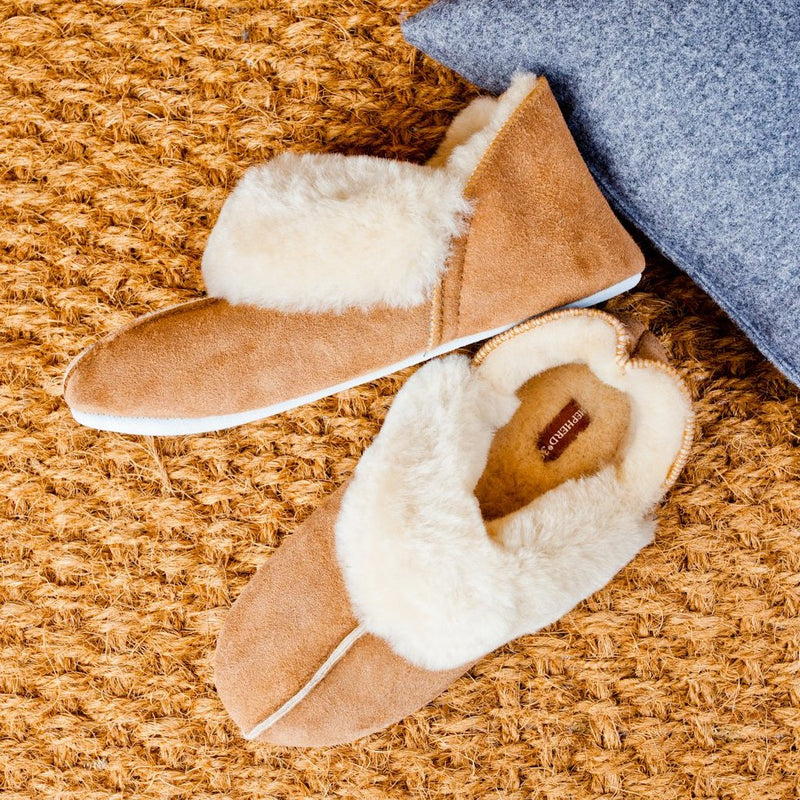 Shepherd Ladies Sheepskin Slippers - Chestnut (Nina)