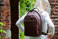 Unisex Leather Rucksack / Backpack - 4555 (Tan and Black)