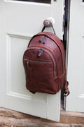 Unisex Leather Rucksack / Backpack (Tan and Black)