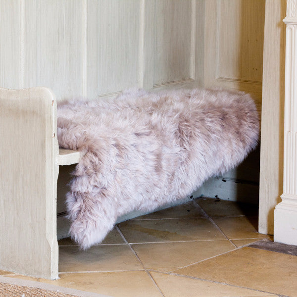 Shepherd Luxury Long Haired Sheepskin Rug - Linn (Blush)