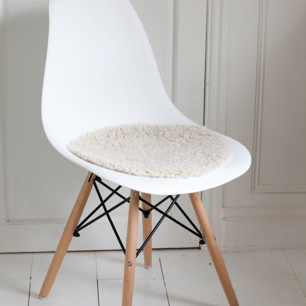 Sheepskin Seatpad - Swedish Curly  (Round)