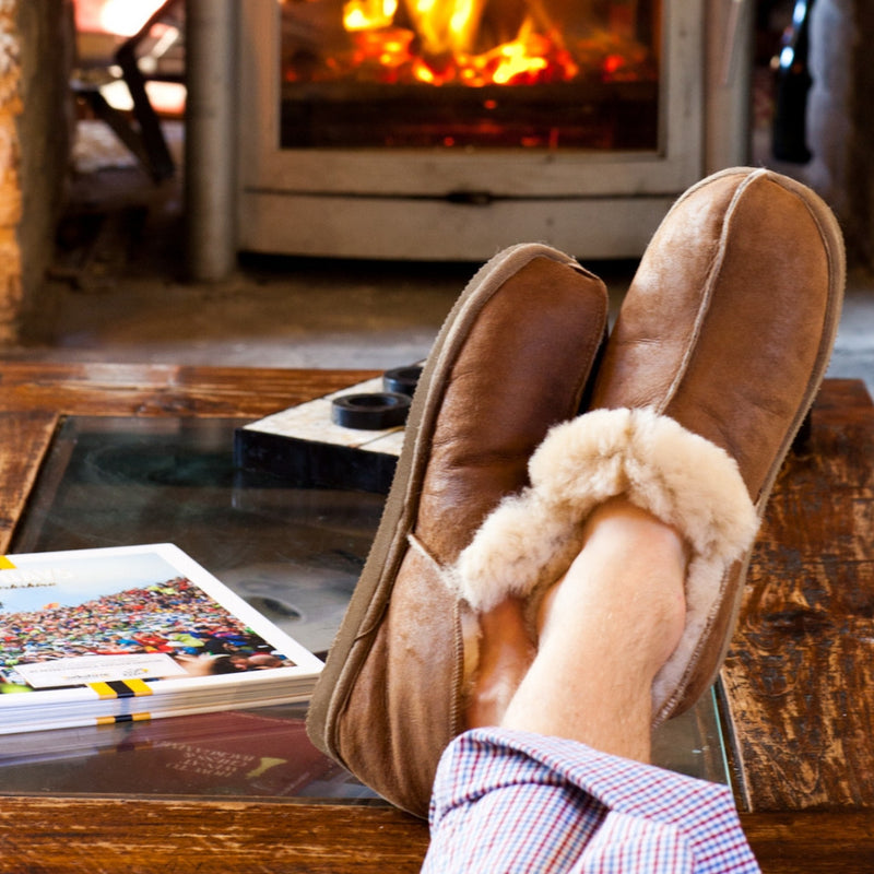 Men's Sheepskin Slippers booties from Shepherd of Sweden