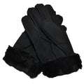 Ladies Sheepskin Gloves (Black)