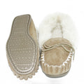 Women Moccasin Slipper wool lined with outdoor Sole