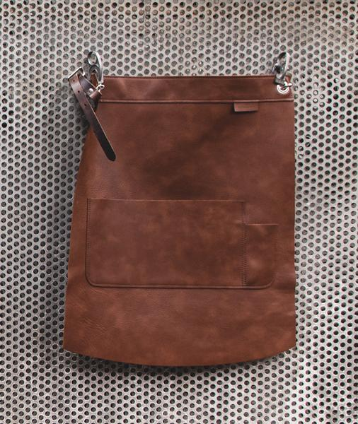 Heritage Brown Leather Waist Apron