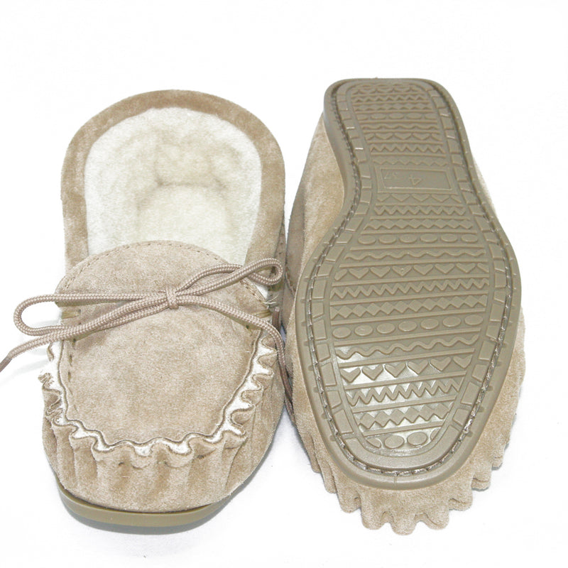 Men's Lambswool Lined Moccasin (with hard wearing sole)