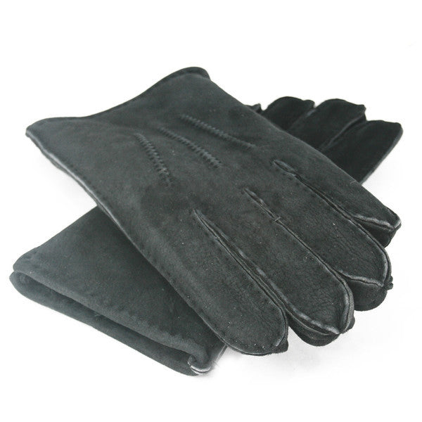 Men's Sheepskin Gloves (Black)