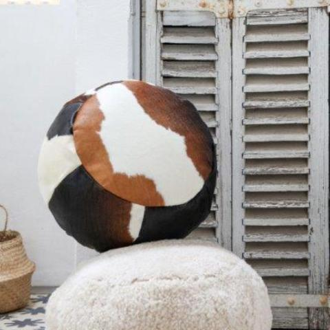 Cowhide Pouffe / Foot Stool
