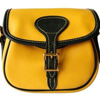 Yellow and Black Leather Cartridge Bag – Westmorland Sheepskins