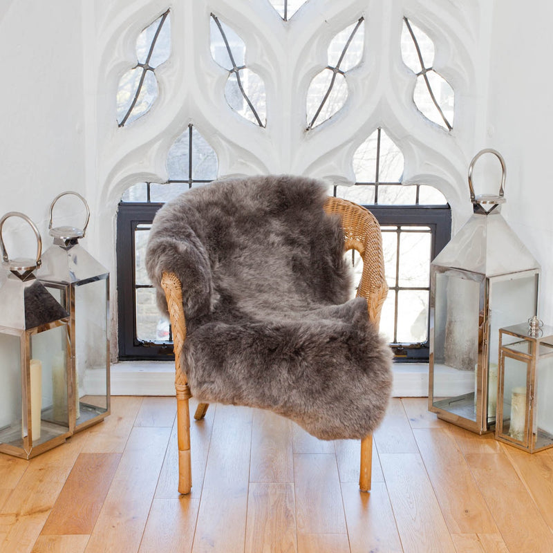 Stone Icelandic Short Haired Sheepskin Rug