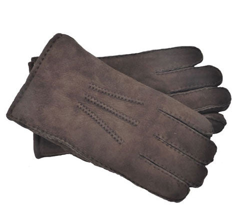 Men's Sheepskin Gloves (Brown)