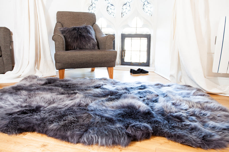 Quad Sheepskin Rug - Swedish Anthracite Grey