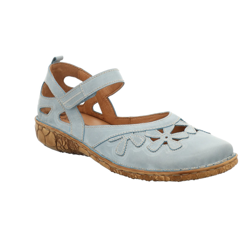Josef Seibel ladies leather shoes in light blue