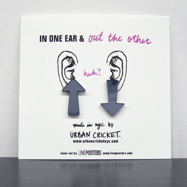 In One Ear. Gunmetal.