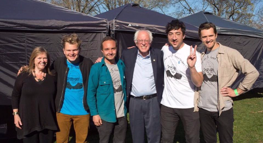 Peace Love & Bernie Sanders. The Crew.