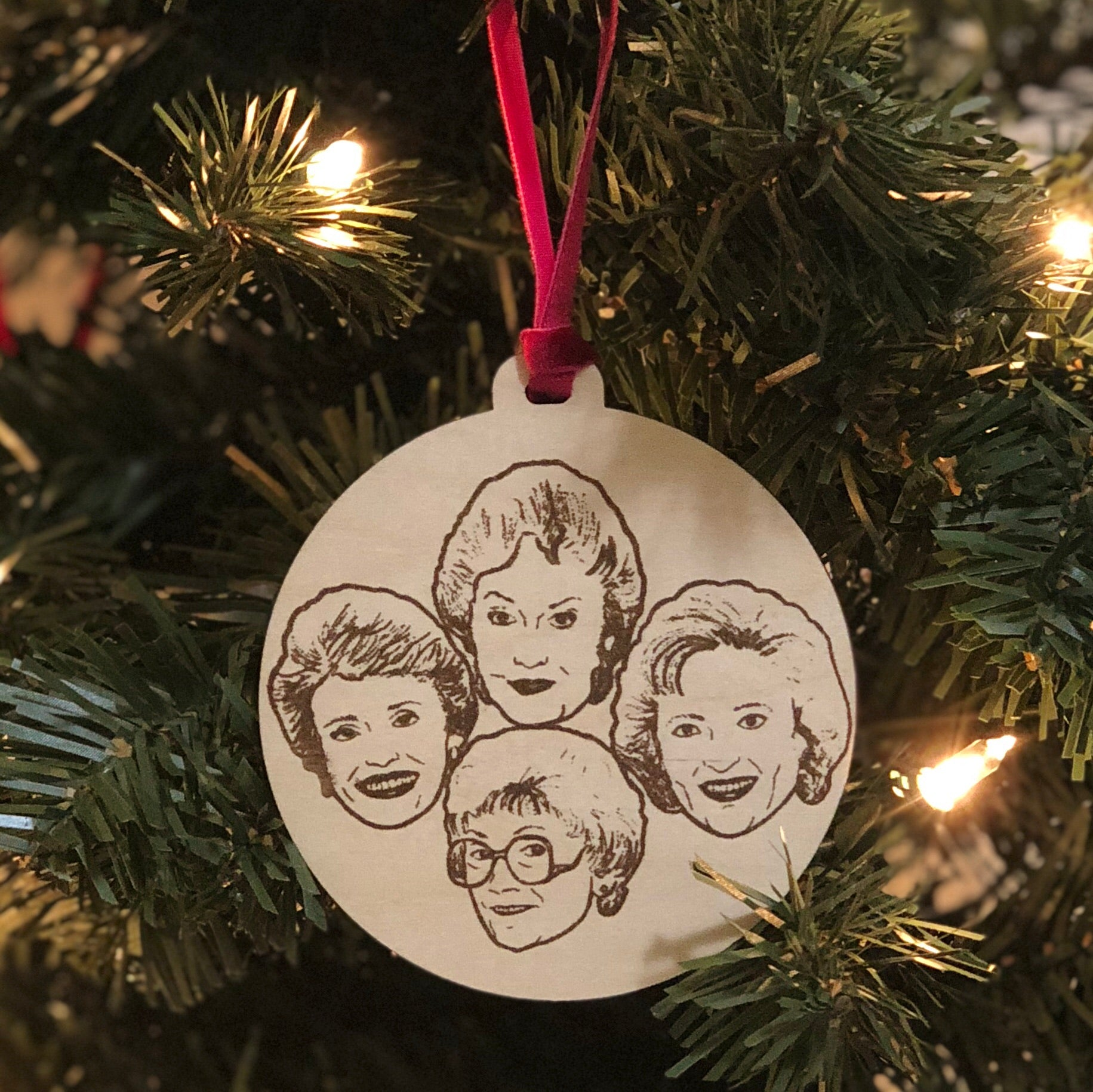 Golden Girls Holiday Ornament
