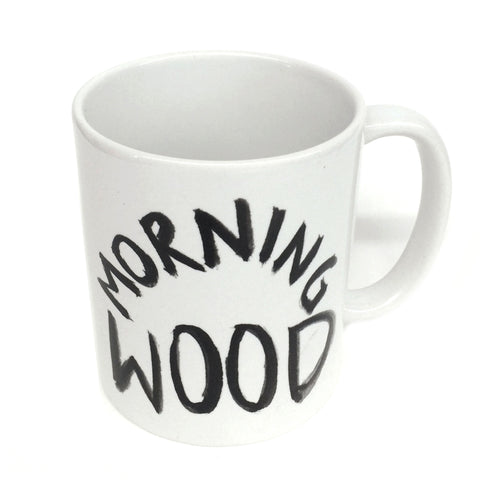 Dirty Dishes. Morning Wood Mug.