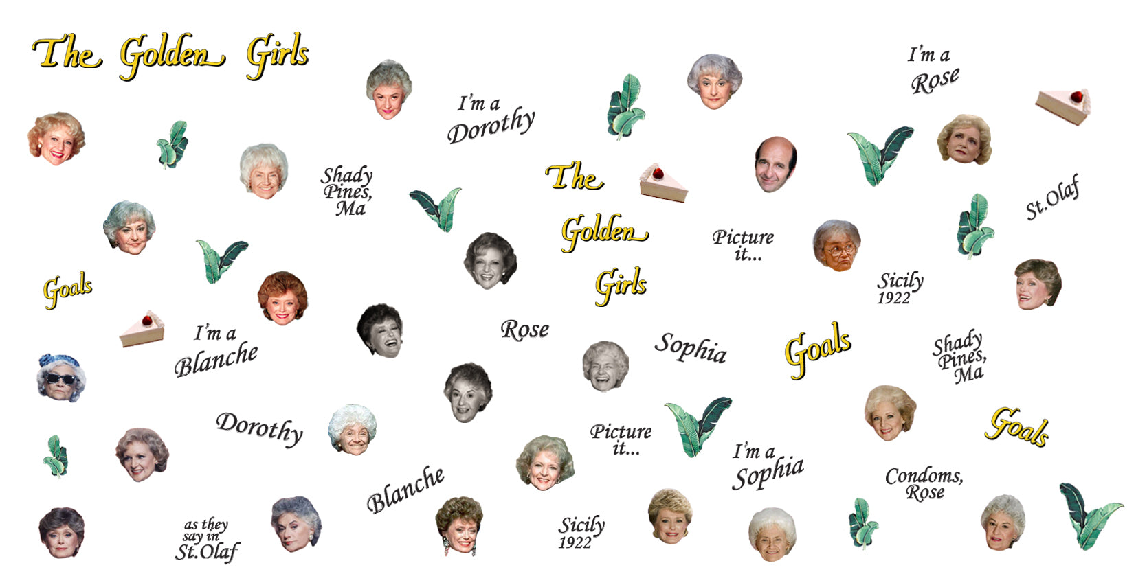 Golden Girls Nail Decals