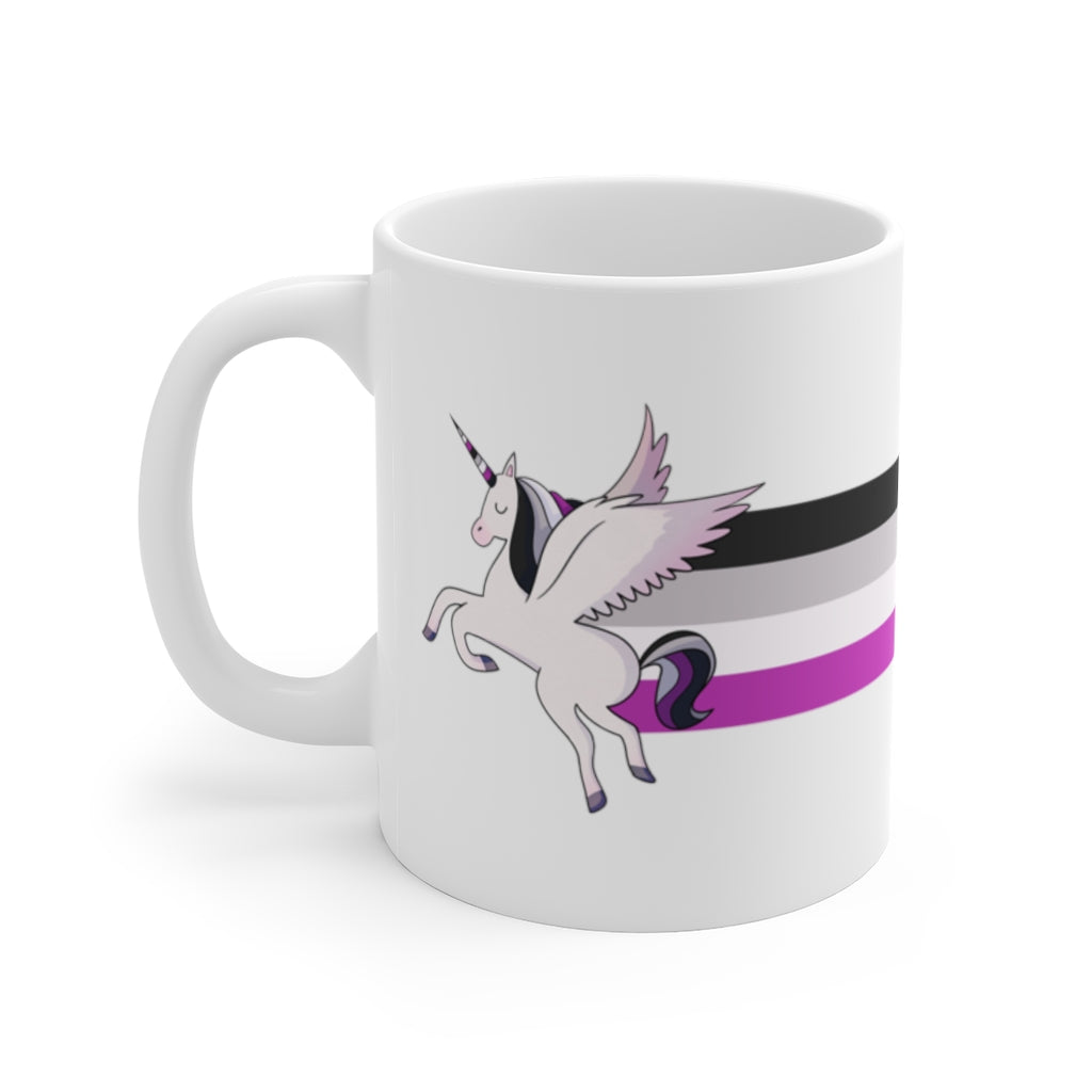 Asexual Flag Unicorn Rainbow Mug
