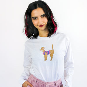Bisexual Cat Long Sleeved T-Shirt