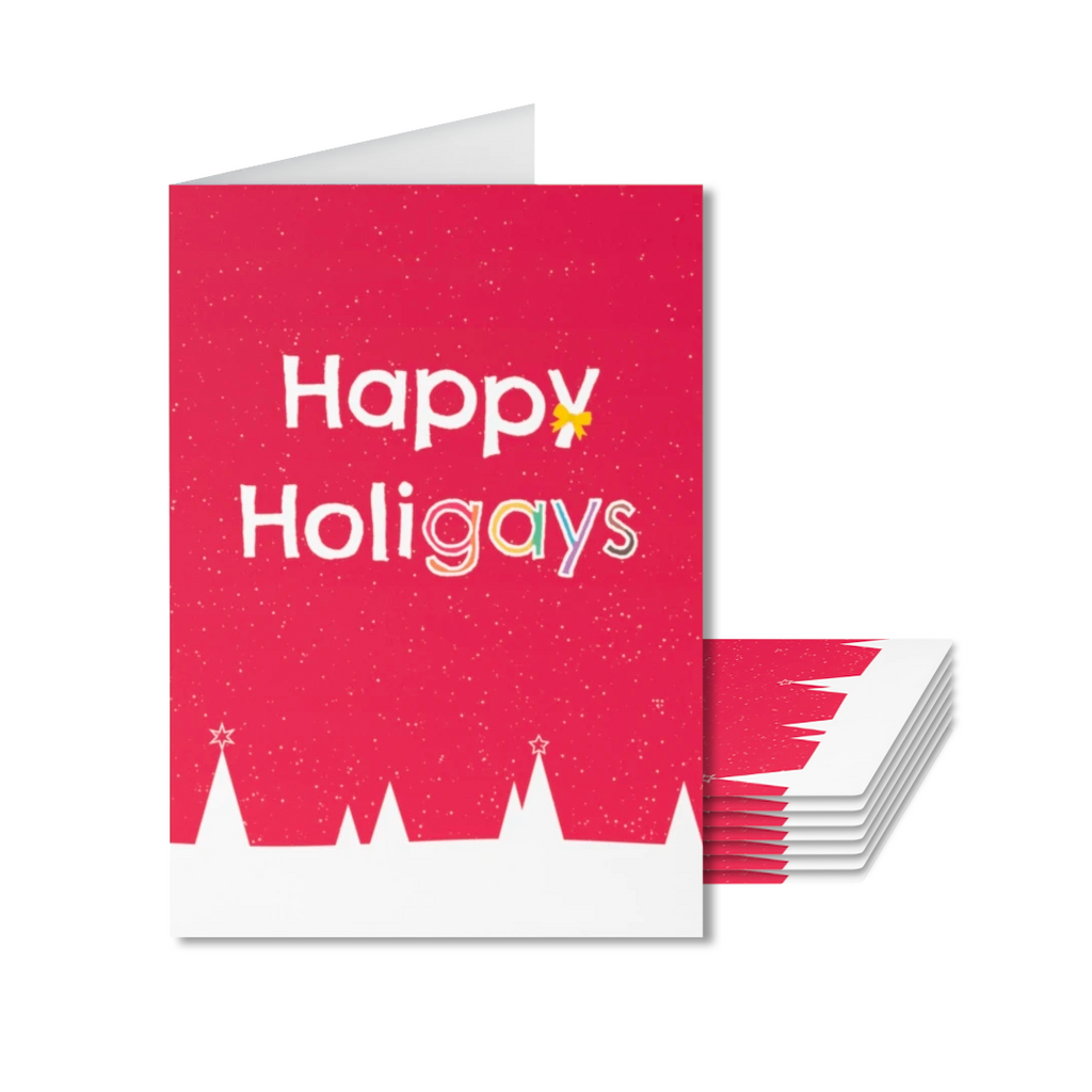 Pack of 8 Happy Holigays Christmas Cards