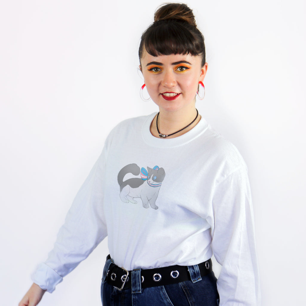 Trans Cat Long Sleeved T-Shirt