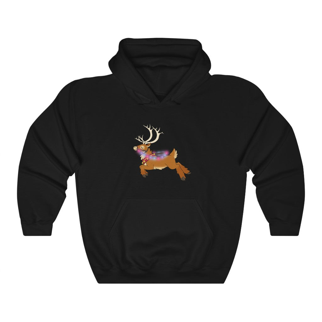 Bisexual Reindeer Lights Christmas Hoodie