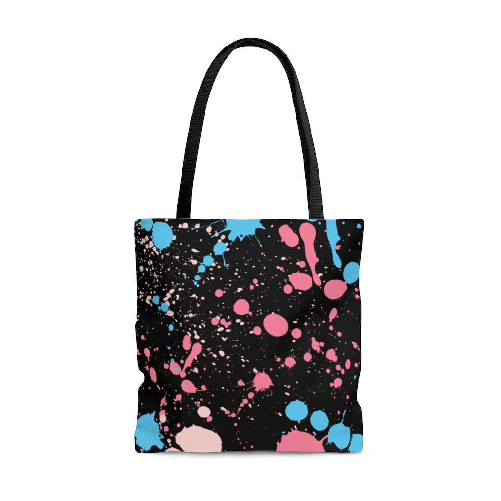 Trans Paint Splash Tote Bag