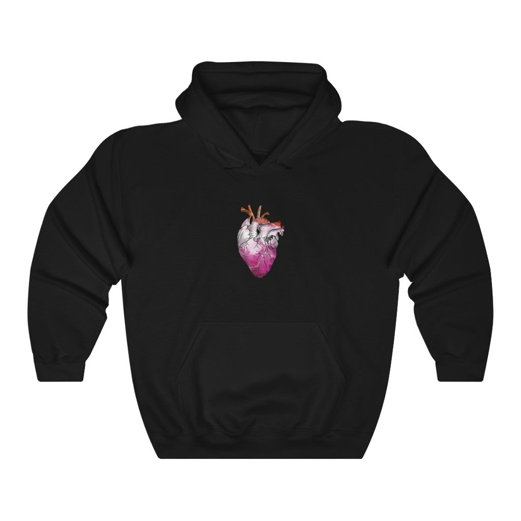 Lesbian Rainbow Proud at Heart Hoodie