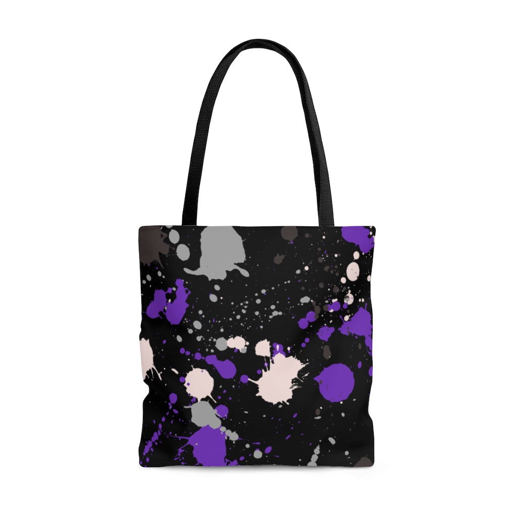 Asexual Paint Splash Tote Bag