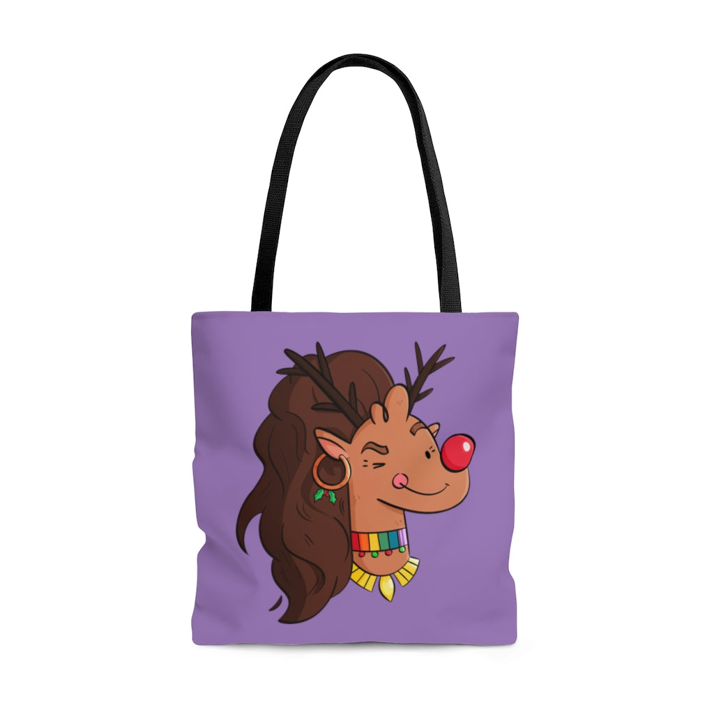 Rudolph's Drag Race Christmas Tote Bag