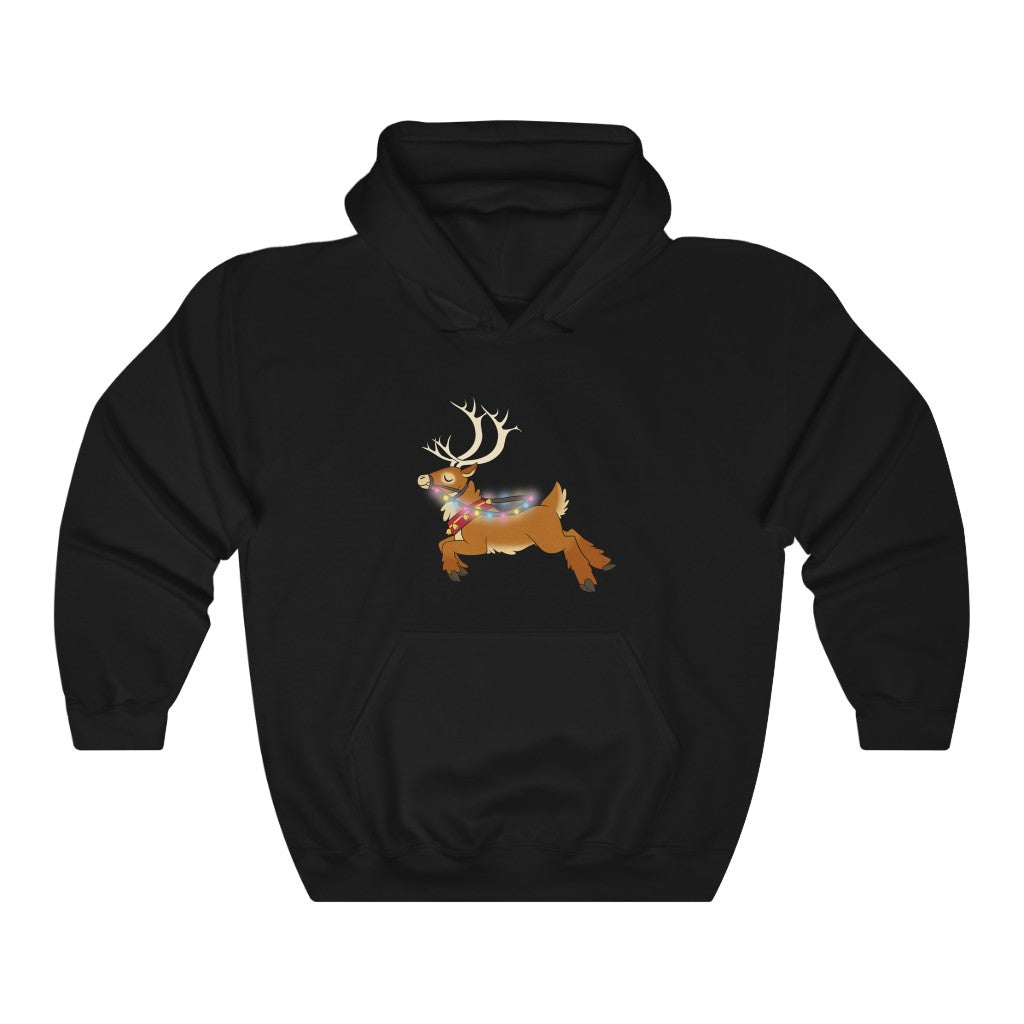 Pansexual Reindeer Lights Christmas Hoodie