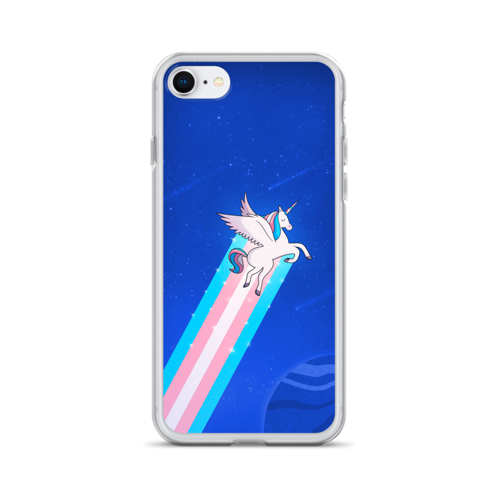 Trans Rainbow Unicorn iPhone Case