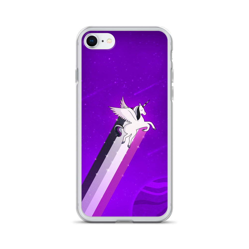 Ace Rainbow Unicorn iPhone Case