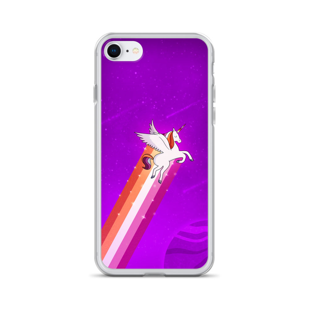 Lesbian Rainbow Unicorn iPhone Case