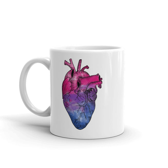 Bisexual Heart Mug