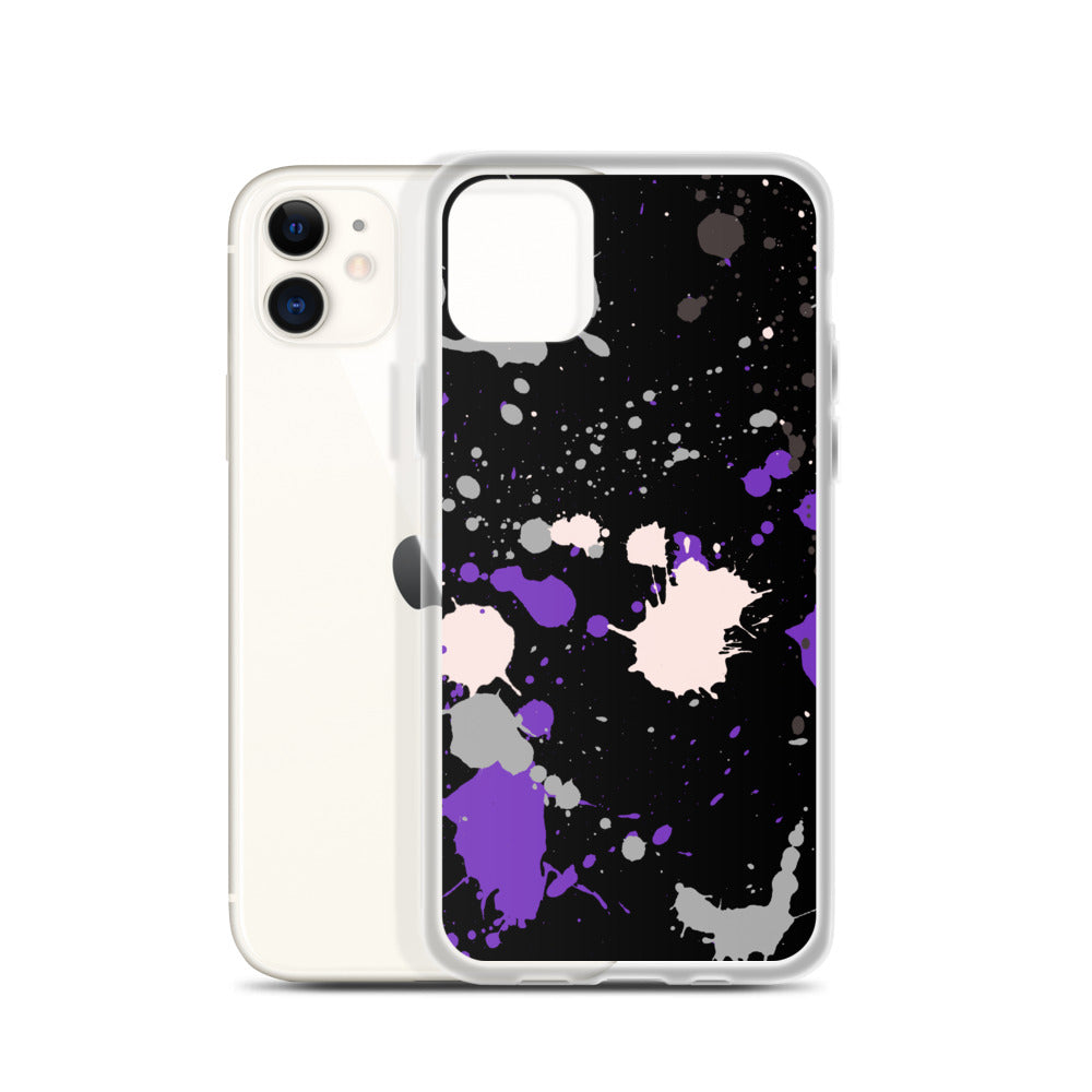 Ace Paint Splash iPhone Case
