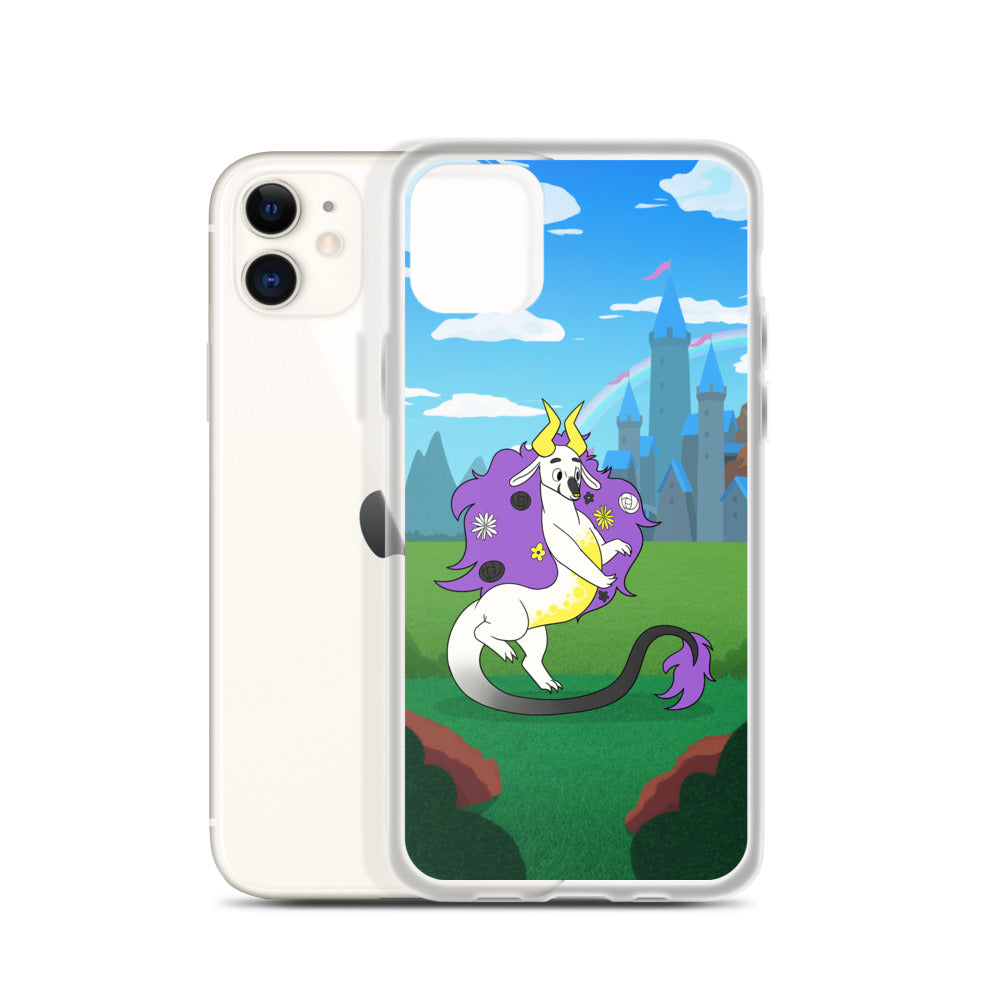 Non-Binary Dragon iPhone Case
