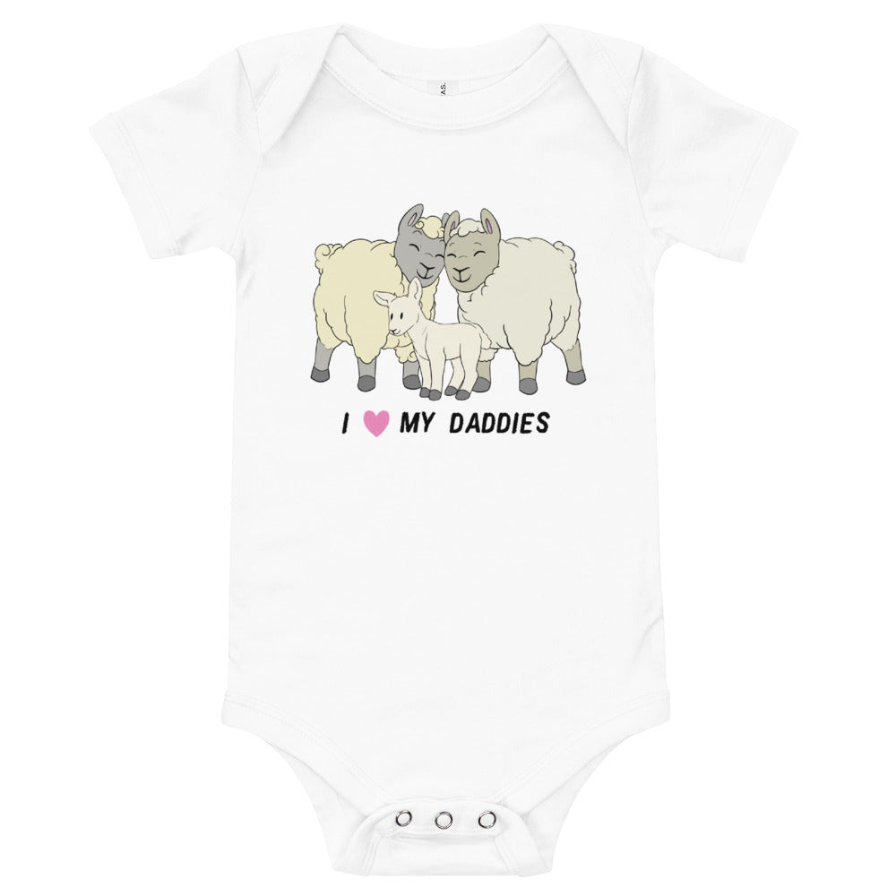 Sheep Proud Daddies Baby Bodysuit