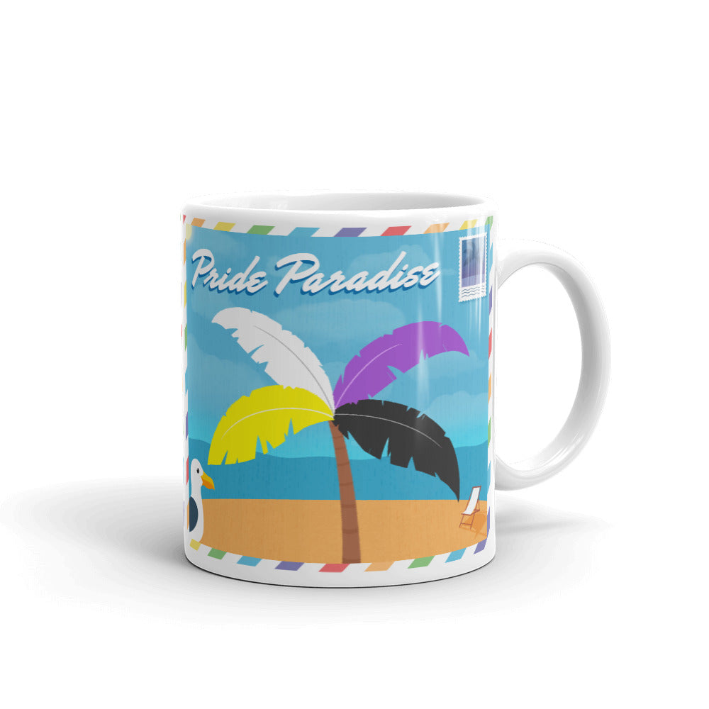 Non-binary Palm Postcard Mug