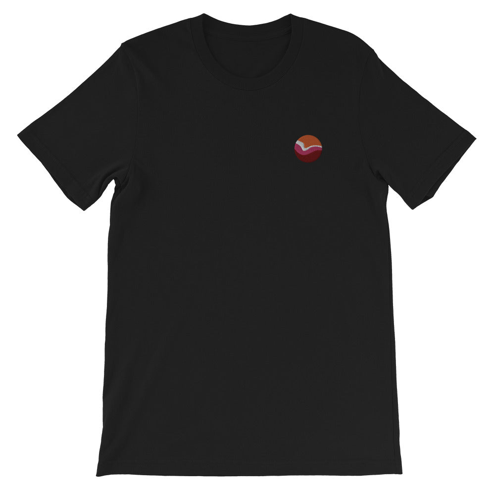 Lesbian Planet Embroidered T-Shirt