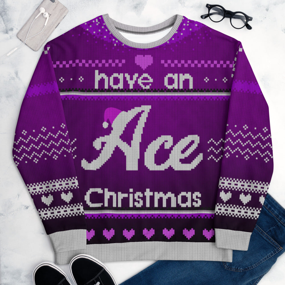 Ace Luxe All-Over-Print Christmas Jumper