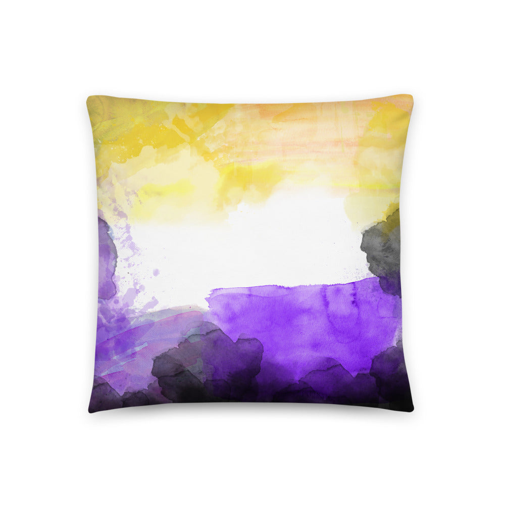 Non-Binary Watercolour Cushion