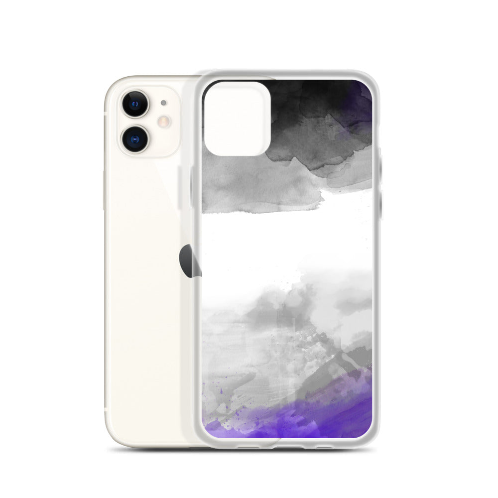 Asexual Watercolour iPhone Case